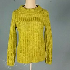 Anthropologie field flower lime sweater knit